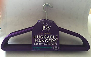 Joy Mangano Huggable Hangers for Suits and Pants Purple