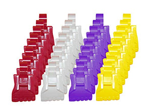 The Amazing Sock Clip Sock Holder, Unicorn Color Assorted 32 Clips, (8 Each of 4 Colors) Made in U.S.A.