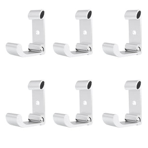 Generic Flip Space aluminum Wall Hook Folding Hook Coat Hook Pack of 6 (Silver 6)
