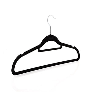 "Homfa Coat Hangers 20pcs Anti-slip Flocking Clothes Hanger for Trouser Skirt Siut-45cm(18"") (Black)"