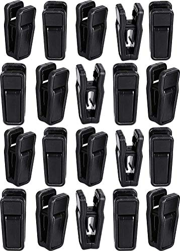 20 Pack Plastic Hanger Clips for Pants Skirts Clothes Pins Pegs