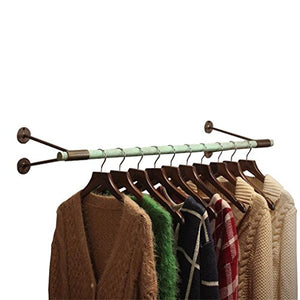 Dika UK Coat Racks Free Standing Wooden Wood Iron Wall Coat Rack Hangers Clothing Display Stand for Cloakroom Clothing Store White Easy to Install (Size : 80cm)