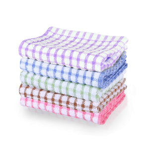 uxcell Cotton Terry Kitchen Towels Dish Cloth, Cleaning Drying Hotel Wash Cloth, 15 x 10.5 inches, pack of 6, Assorted Color