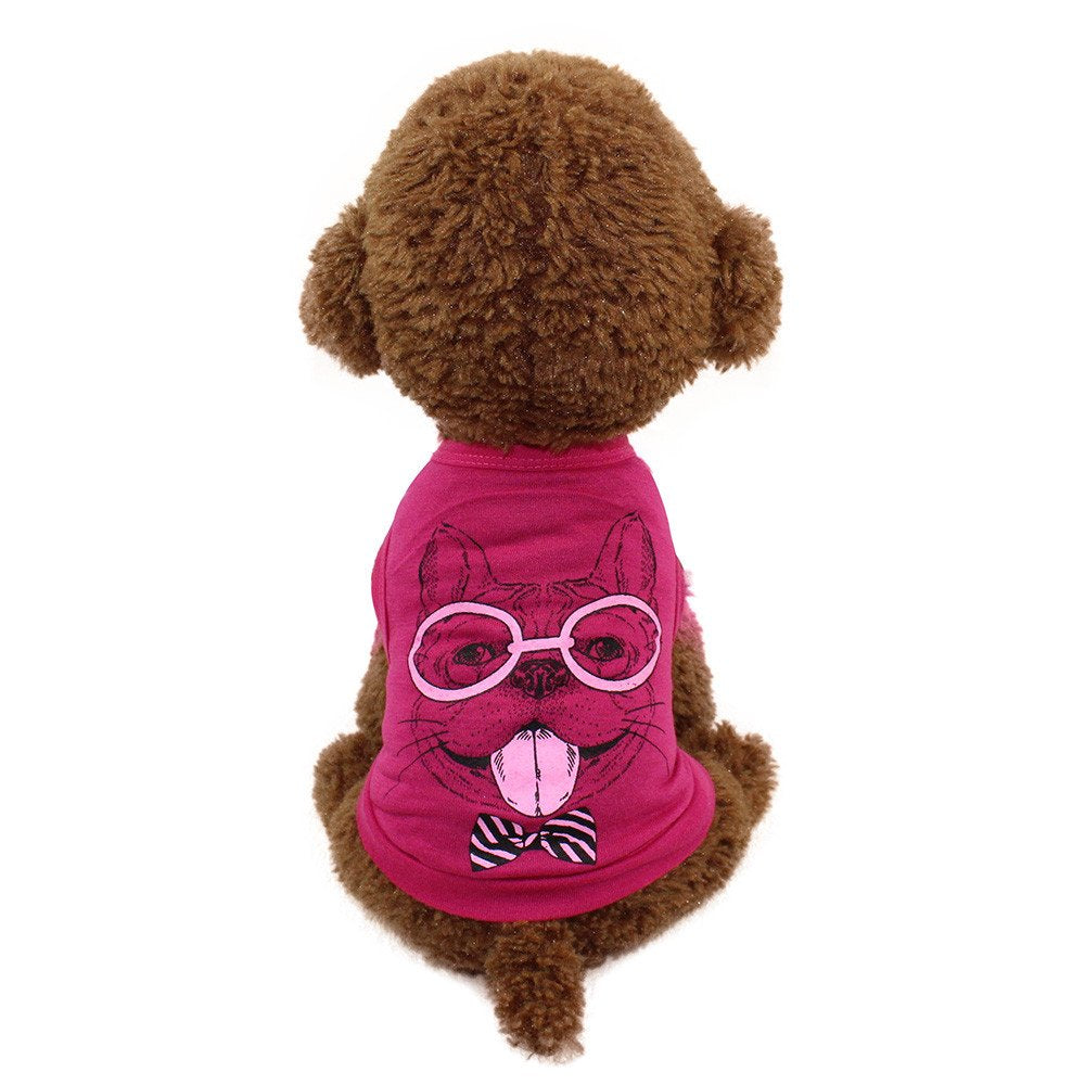 Big Promotion! Puppy Clothes WEUIE Cute Pet Dog Cat T-shirt Clothing Small Puppy Costume (S, Red)