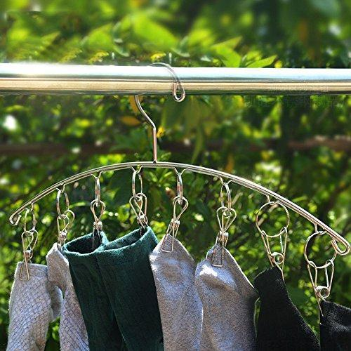 Ringbe Laundry Socks Hanger, Indoor Space Saver Outdoor Rust-Free Sock Underwear Dryer Stainless Steel Drying Rack