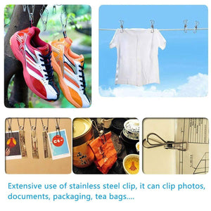 CFZC Metal Wire Hangers 20 Pack Strong Stainless Steel Hangers with Clothes Pins - 4mm Diameter 17.7 Inch