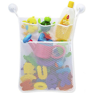 Clearance Deal! Hot Sale!Toys Storage Bag, Fitfulvan Baby Bath Time Toy Tidy Storage Hanging Bag Mesh Bag Mesh Bathroom Organiser Net (White)
