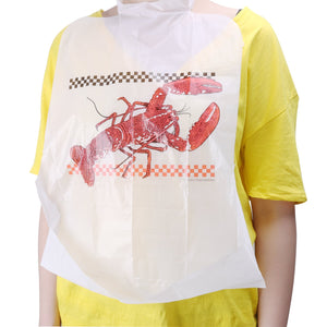 90-Piece Party Supply Lobster Bibs Seafood Feast Adult Disposable Bibs Protect Clothes from Spills
