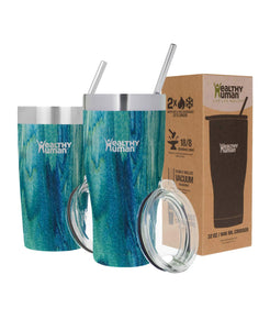 Healthy Human Insulated Stainless Steel Tumbler Cruisers - Travel Cup with Lid & Straw - Vacuum Double Walled Thermos - Idea for Coffee, Tea & Water 20 oz. Bora Bora