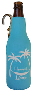 CoozieClaw Unique Bottle Cooler with Built in Hook and Bottle Opener Fun Gift #1 Hanging Bottle Holder Easily Hang Your Cold Beer Bottle Sleeve Anywhere (1, Turquoise With Logo)
