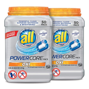 all Oxi POWERCORE PACS Laundry Detergent 50 ct Tub - 2 Pack