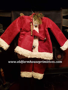 #SANTA1 Medium Burgundy Hanging Santa Suit🎅