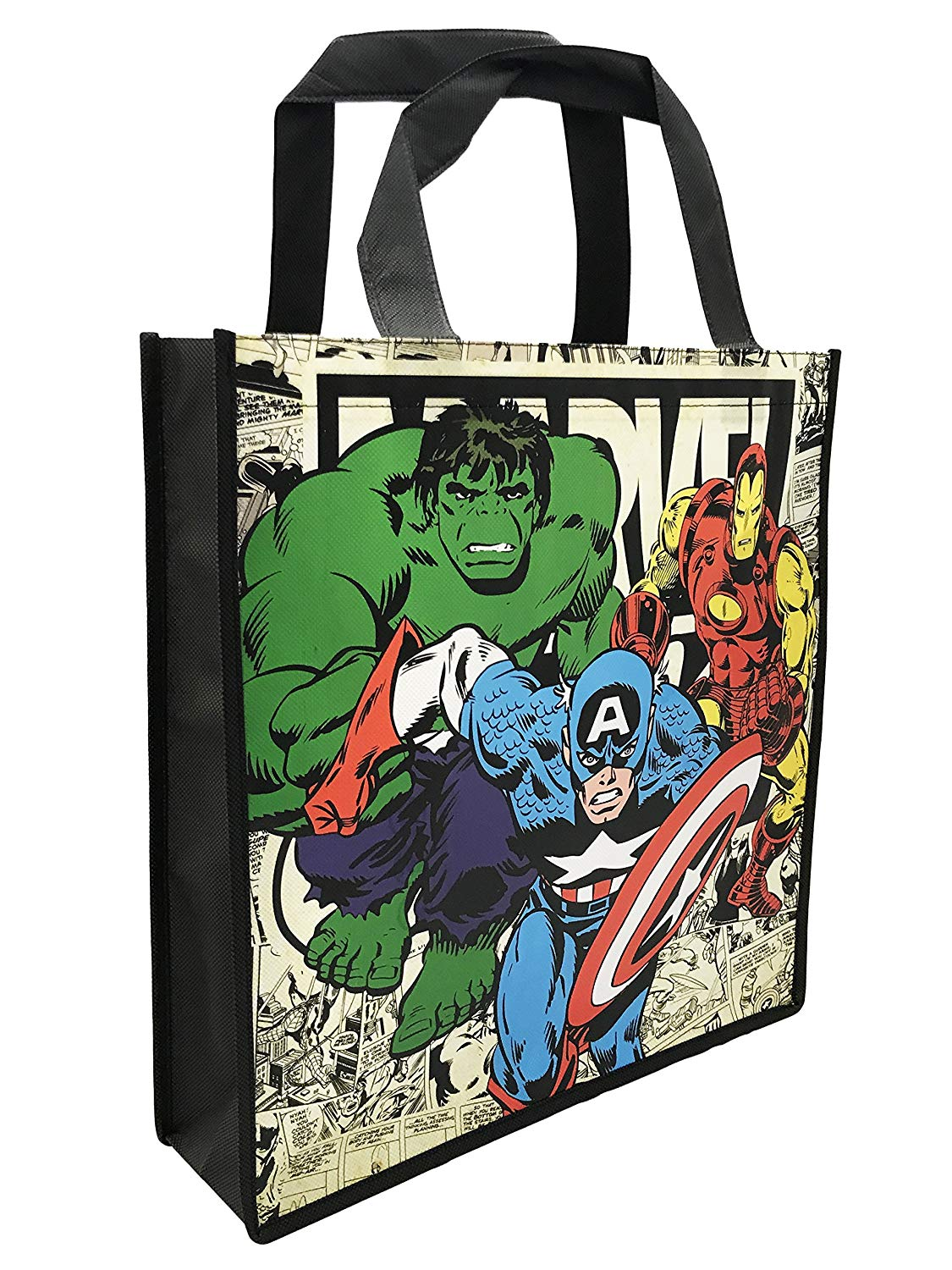 Marvel: Avengers Comic Book Classic, Captain America, Hulk, Iron Man Tote Bag