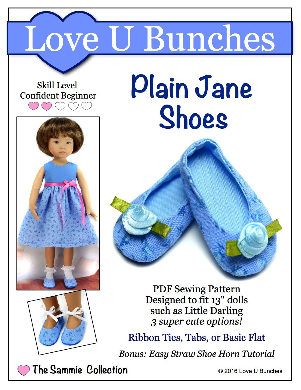 Plain Jane Shoes for Little Darling Dolls