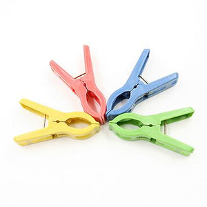 20pcs High Quality Heavy Duty Plastic Clothes Pins Color Hanging Pegs Clips Hangers & Racks