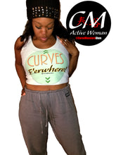 Load image into Gallery viewer, CM Glam 'Curves E'erwhere' Crop Top - 15% Off 'Buy 1 Post 1' Sale