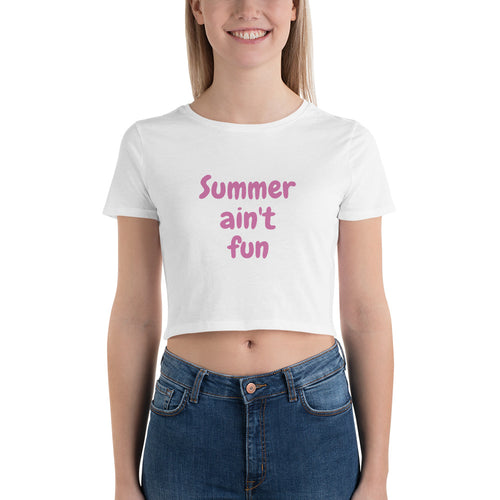Summer Curves Women's Crop Tee