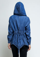Load image into Gallery viewer, Hooded Lightweight Denim Jacket