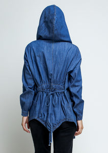 Hooded Lightweight Denim Jacket