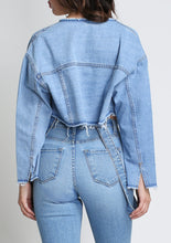Load image into Gallery viewer, So Cropped Unconstructed Denim Jacket