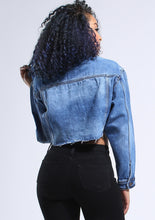 Load image into Gallery viewer, So Cropped Denim Jacket