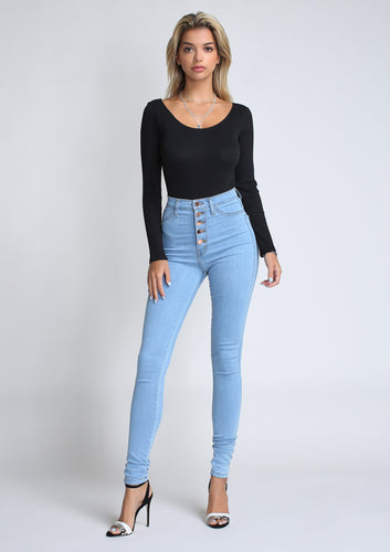 Mimi Button Up Jeans