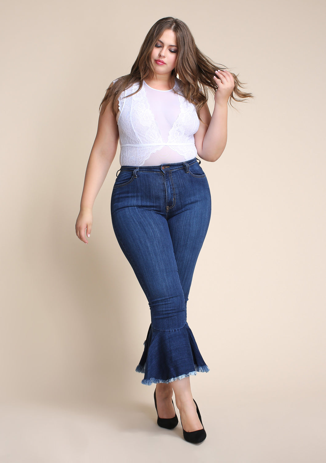 PLUS Flare Out Jeans