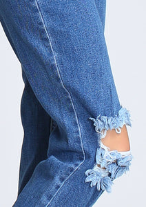 Open Knee Mom Jeans