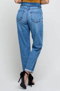 Fold Over Mom Jeans