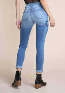 Distressed Utility Jeans