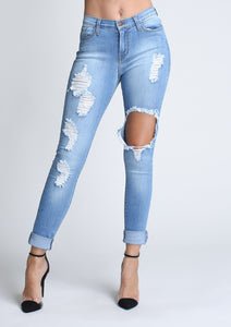 Freebird Destroyed Skinny Jeans