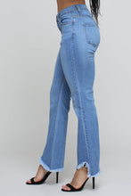 Load image into Gallery viewer, Asymmetrical Hem Flare Jeans