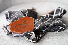 Load image into Gallery viewer, s p e n c e - Grey Paisley and Black Plaid