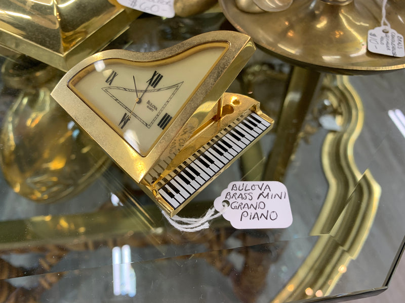 Bulova brass mini grand piano