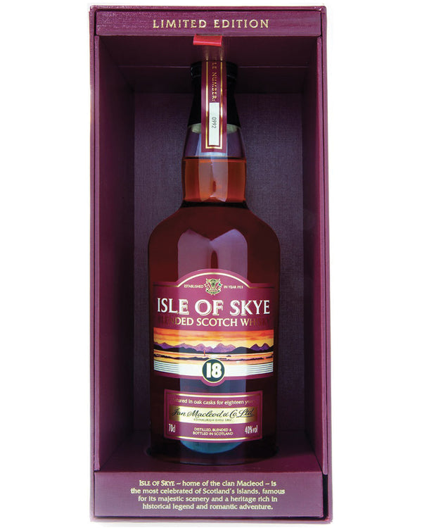 Isle of Skye 18 anni Blended Scotch Whisky con Gift Box