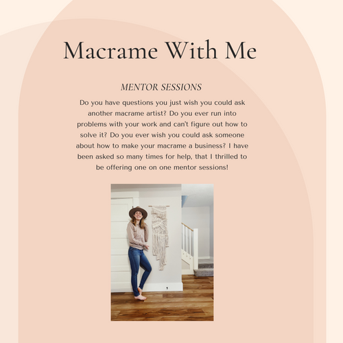 Macrame With Me Mentor Session