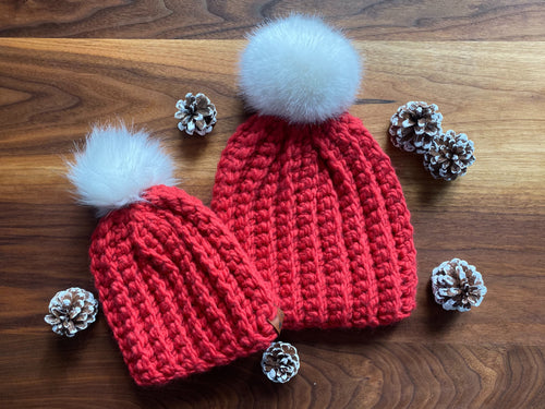 SALE: Limited Edition Holiday Fur Pom Pom Beanie! - Likewoah Handmade