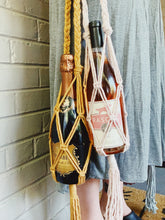Load image into Gallery viewer, Macrame Wine Tote - Likewoah Handmade