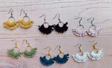 Load image into Gallery viewer, Mini Macrame Fan Earrings - Likewoah Handmade