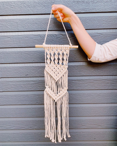 Live Virtual Macrame Wall Hanging Workshop 9/12