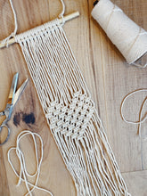 Load image into Gallery viewer, Macrame Heart Wall Hanging Kit - Likewoah Handmade
