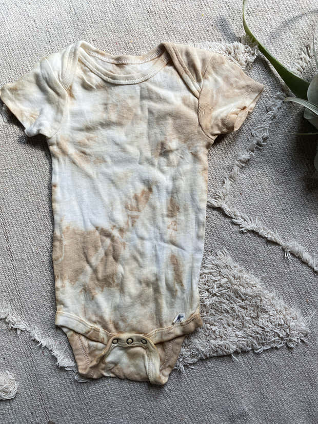 May Batch of Natural Dye Baby Onesies Short Sleeve 1
