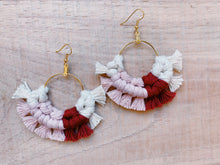 Load image into Gallery viewer, Love Macrame Fan Earrings - Likewoah Handmade