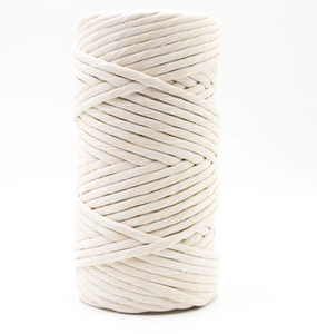 8mm Single Strand Super Soft Cotton Macrame Cord - Likewoah Handmade