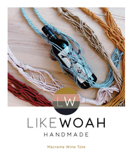 Load image into Gallery viewer, DIY Macrame Wine Tote Kit