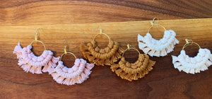 Macrame Fan Earrings - Likewoah Handmade