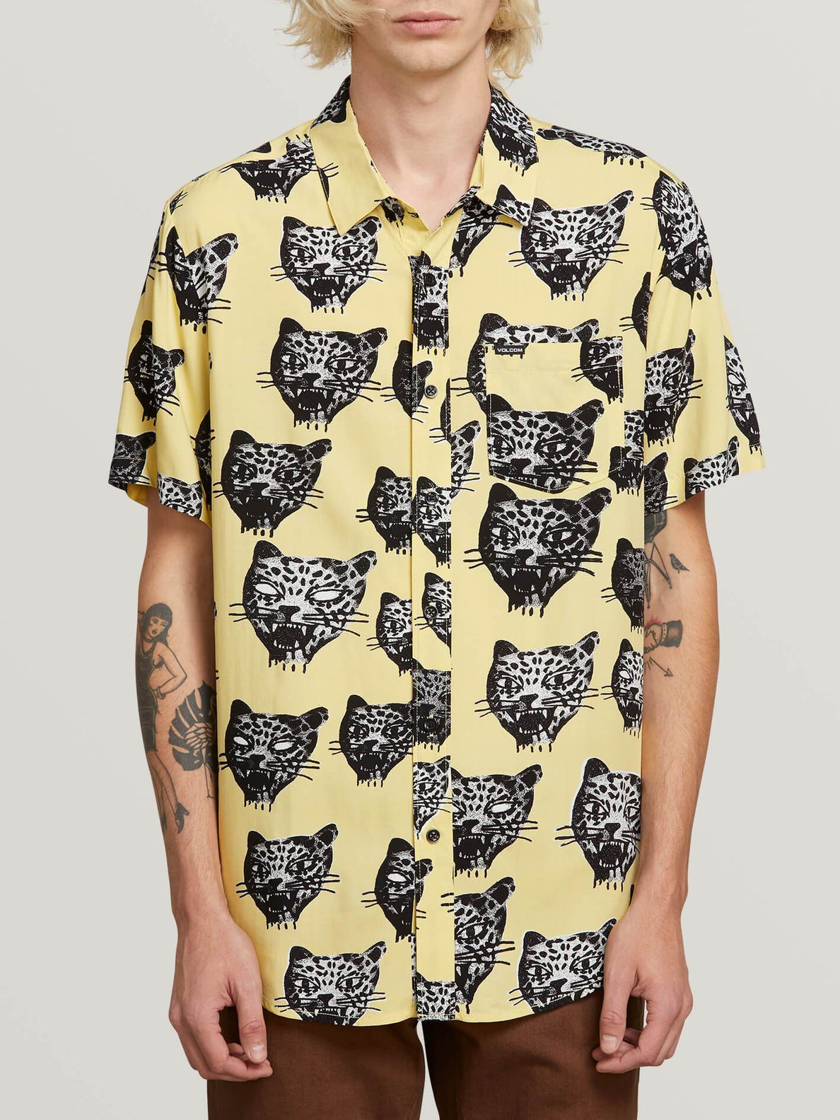 Ozzie Cat Shirt  - Lime