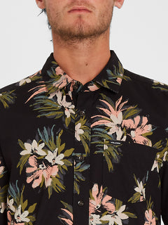 Floral With Cheese Shirt - Black (A0412112_BLK) [2]
