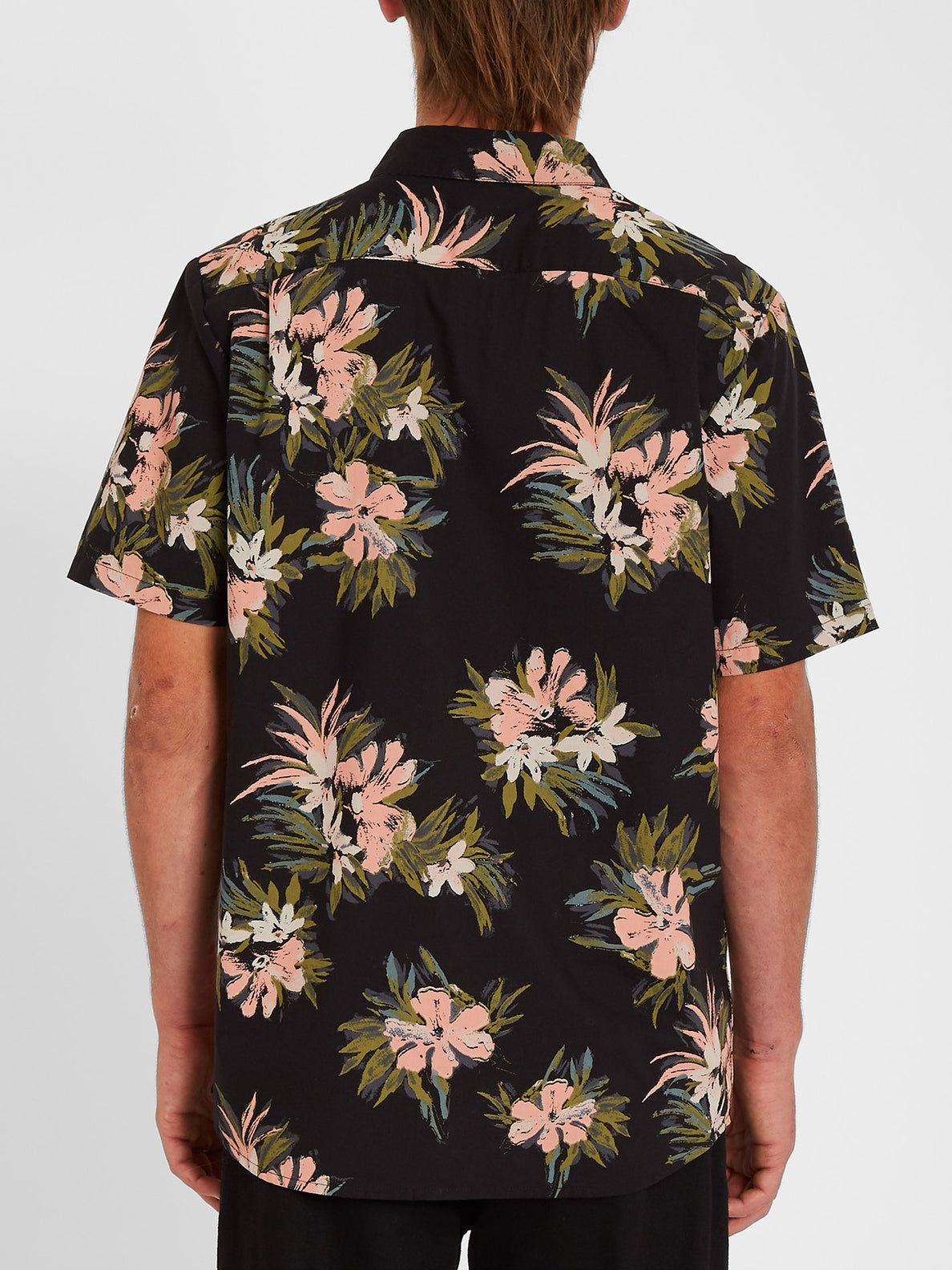 Floral With Cheese Shirt - Black (A0412112_BLK) [B]