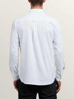 Oxford Stretch Long Sleeve Shirt  - White